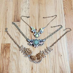 Set of 3 J.Crew Necklaces Stones and Gems